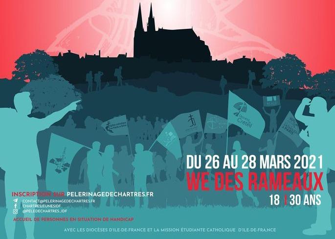 Pélé de Chartres 2021 des jeunes d'Île-de-France