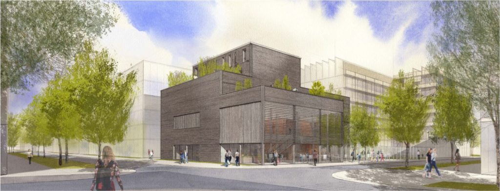 Centre Teilhard de Chardin de Saclay<br /> bénédiction du chantier le 8 avril